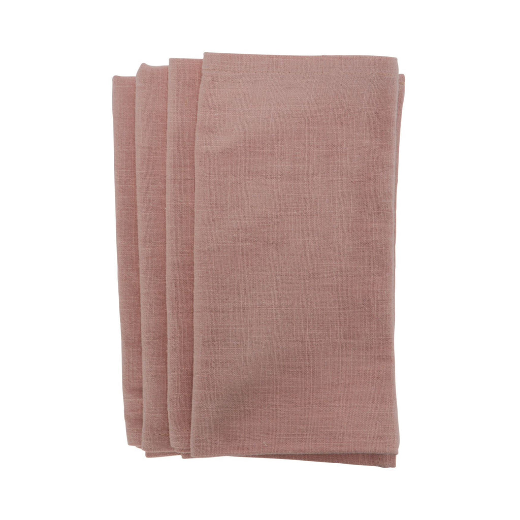 Napkin Stonewashed Set 4 - Pink