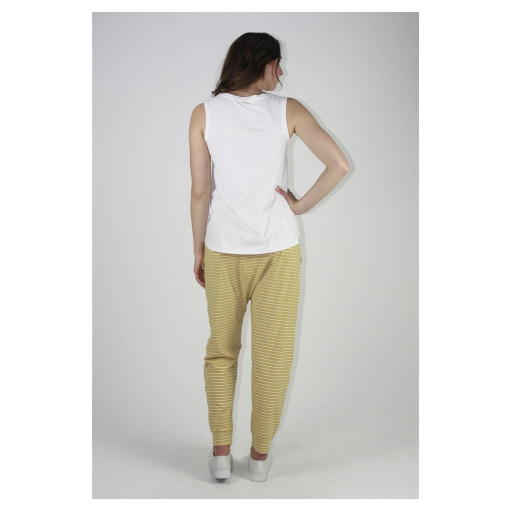 Top Step Hem Tank White