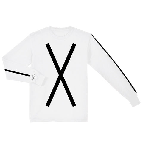 Malcolm X Long Sleeve Shirt in White