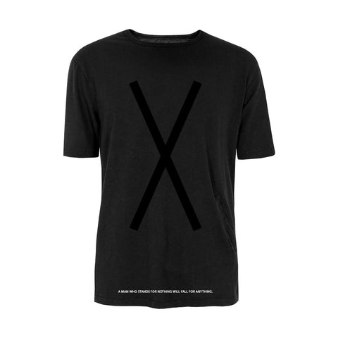 Malcolm X - X Crew T-Shirt in Black