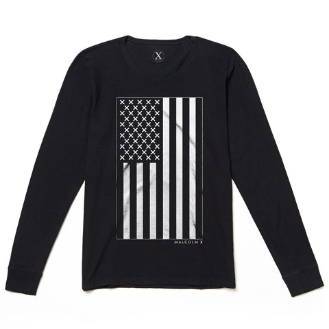 X Vertical Flag LS Tee