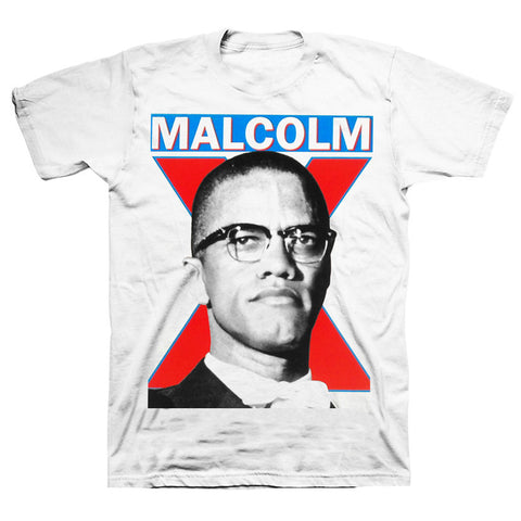 Malcolm X - Portait T-Shirt in White