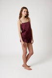 Scallop Cami - Burgundy