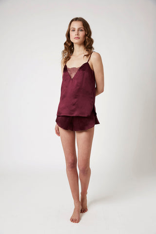 Runner Lace Cami - Burgundy