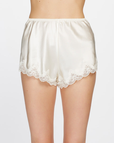 Pure Silk Knicker with Lace