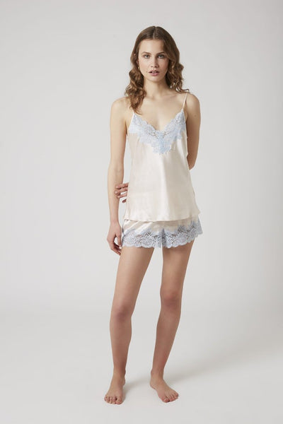 Silk Camisole with Lace - Vanilla