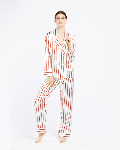 Silk Pyjama with Delicate Neck