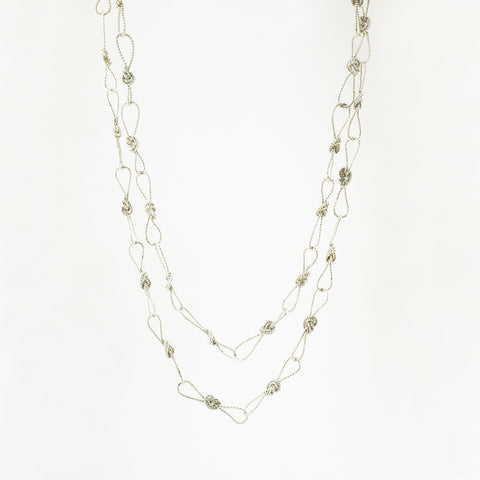 long loop knot necklace