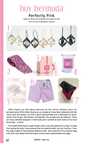 bermuda.com magazine, perfectly pink, buy bermuda
