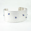 silver and sapphire cuff bracelet, price available on request