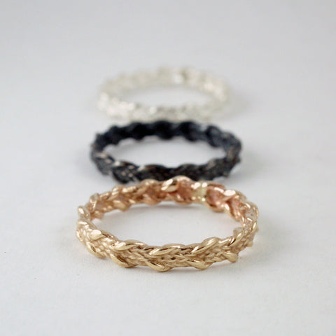 thin braid rings