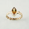 14ct yellow gold braid + citrine ring, price available on request