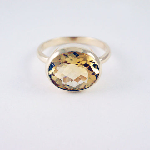 14ct yellow gold + citrine ring, price available on request