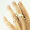 braid ring, gold vermeil and natural freshwater pearl