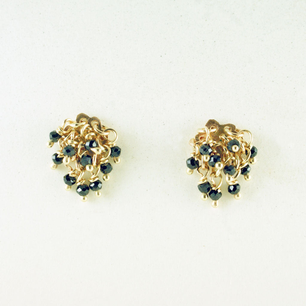 in gold earrings nightfall spinel silver lyst jewelry diamond product black metallic lagos