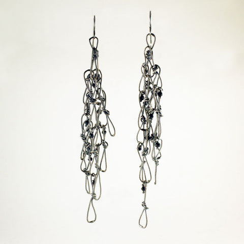 multi loop knot earrings