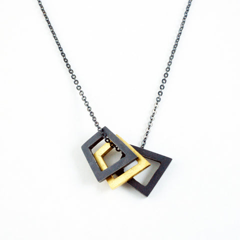 small 3x geometric pendant