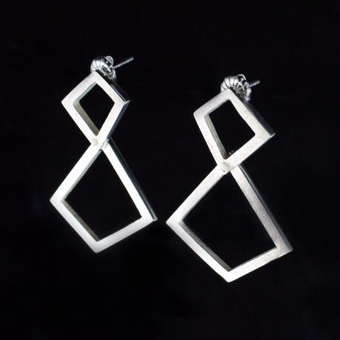 kinetic geometric earrings