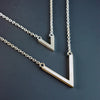 tiny or large gable necklace
