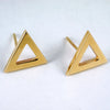 Bermuda triangle studs 14kt yellow gold