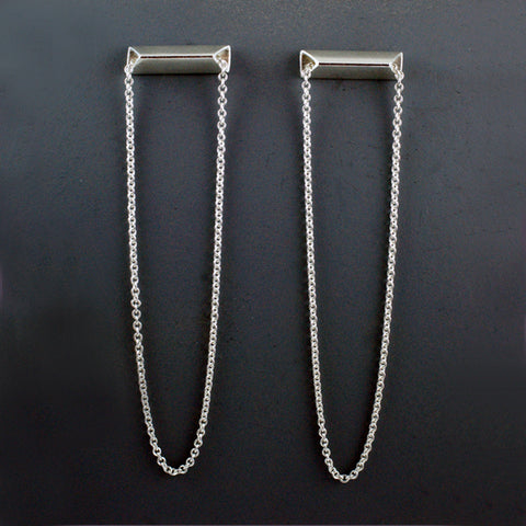 horizontal linear earrings