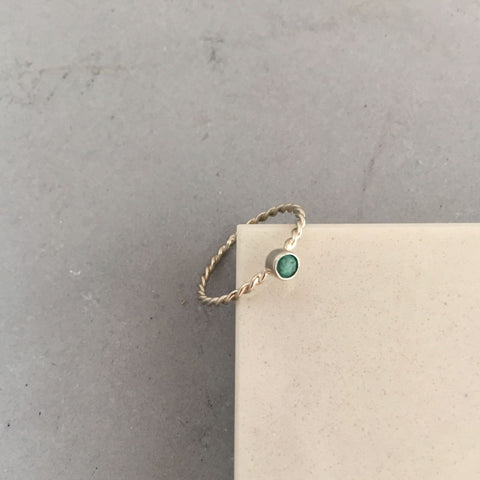 rope birthstone ring