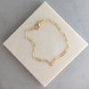 paperclip chain necklace/bracelet, linear