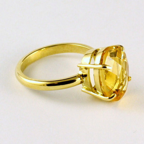 18ct yellow gold + citrine ring, price available on request