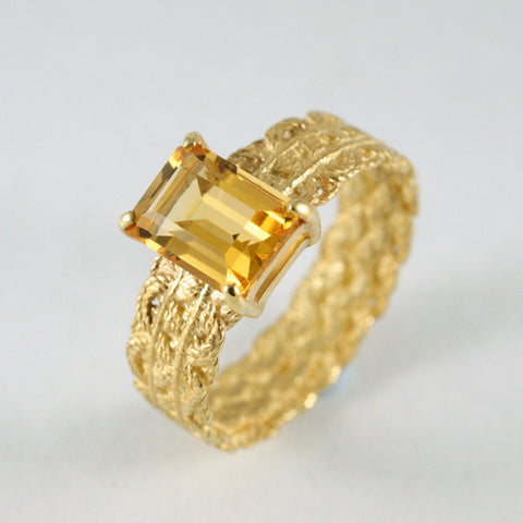lace engagement ring, yellow gold and citrine, price available on request