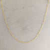 paperclip chain necklace, linear