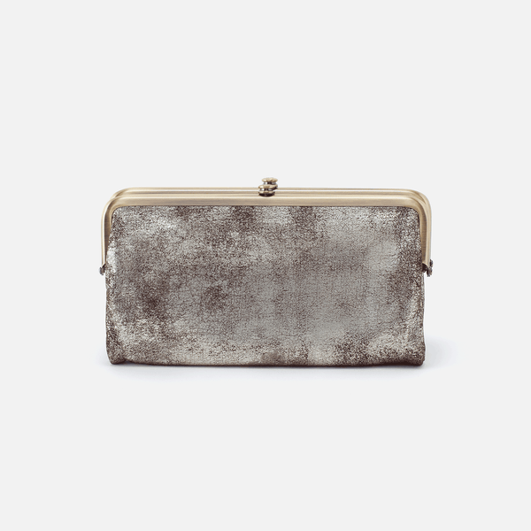 Hobo The Original Lauren Wallet in Metallic Heavy Metal