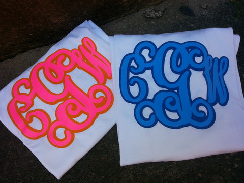 Two Color Vinyl Monogrammed Tees
