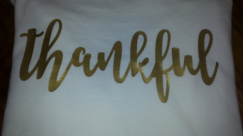 Gold Thankful Tee