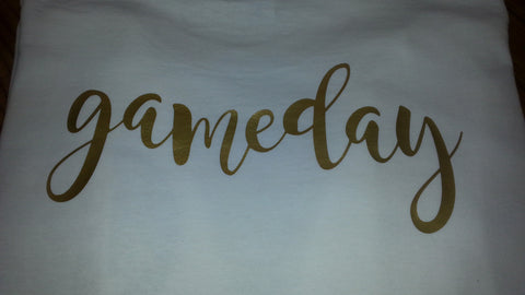 Gold Game Day Tee