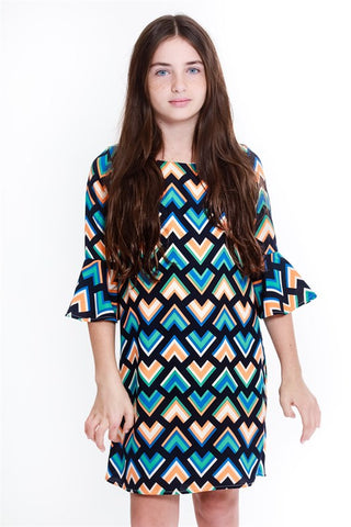 Girl's Bell Sleeve Dress