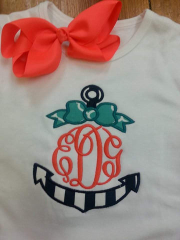 Anchor Monogrammed Tee