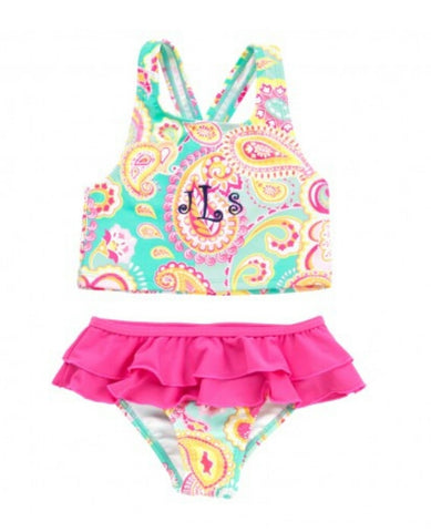 Summer Paisley Swimsuit Set
