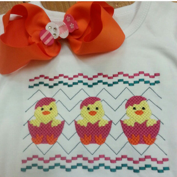 Faux Smocked Chicks