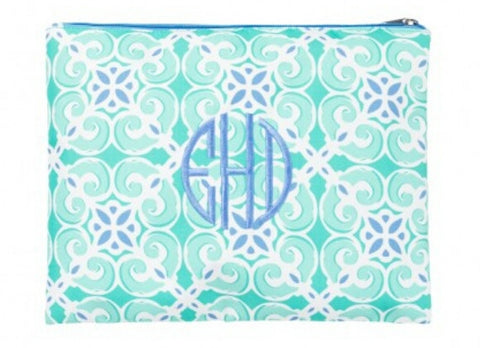 Sea Tile Zipper Pouch