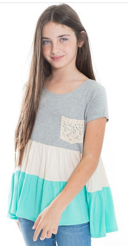 Girl's Color Block Tee