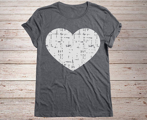 Distressed Heart Tee