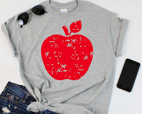 Back to School Apple Tee