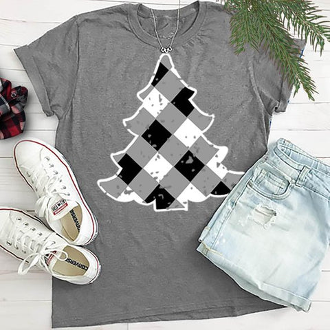 Buffalo Plaid Christmas Tree Tee