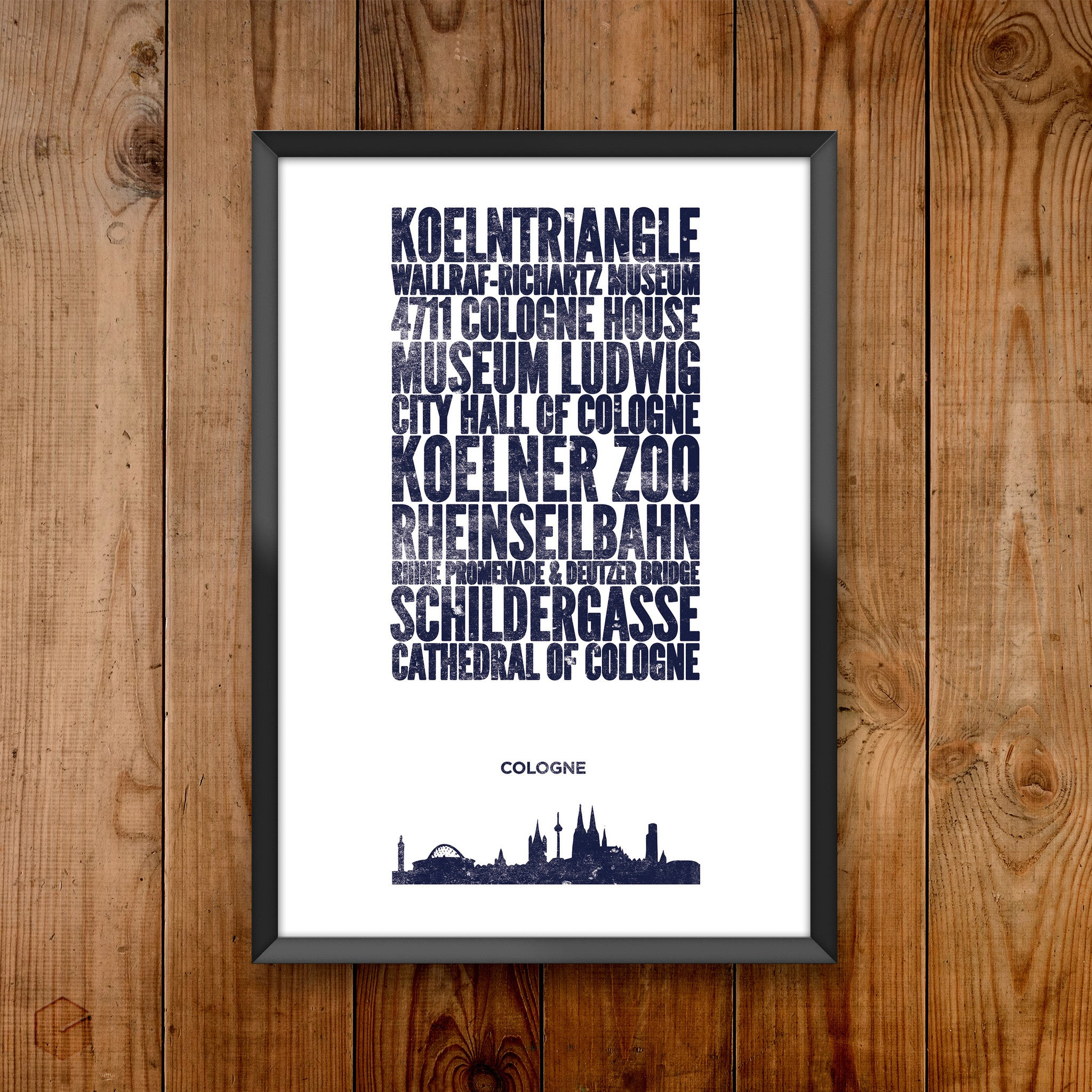 Cologne City Print