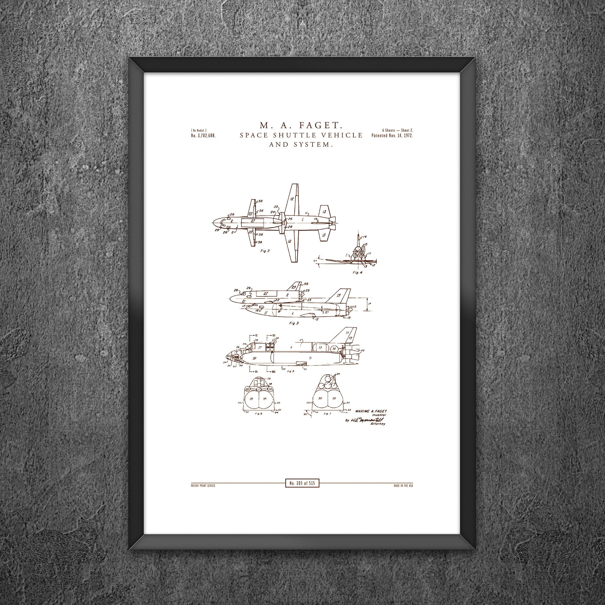 No 305 Space Shuttle Vehicle And System Crate Style Diagrams