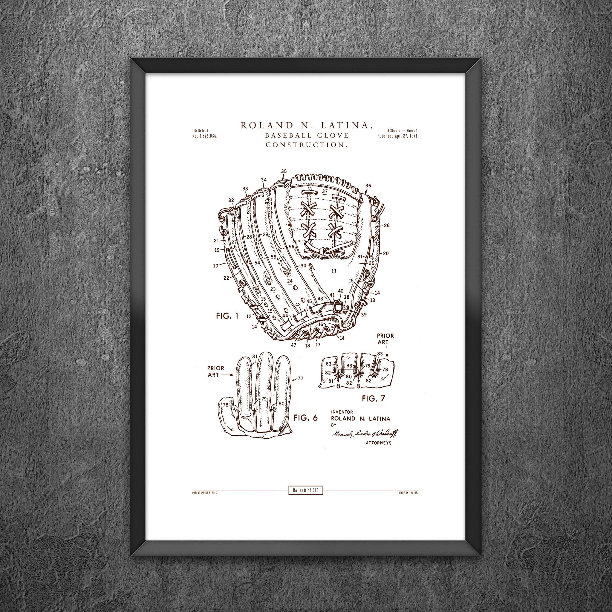 No 440 - Baseball Glove Construction