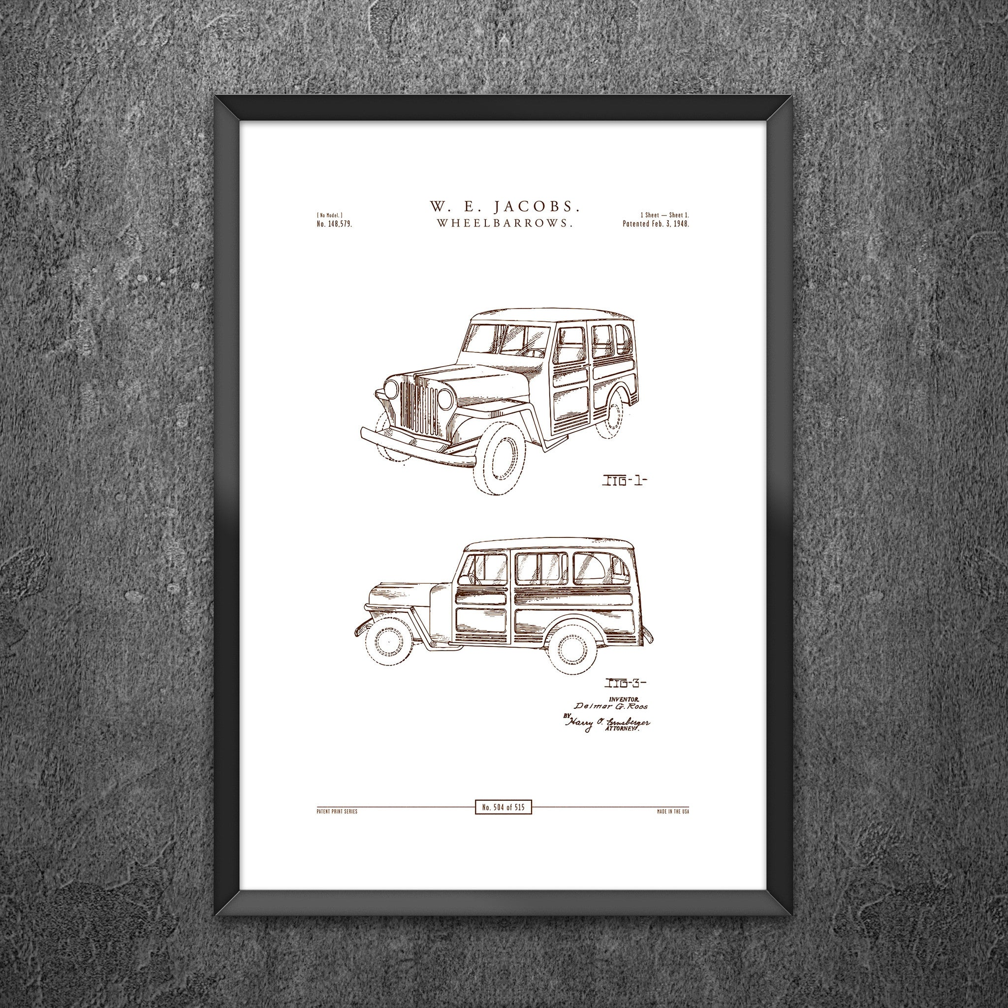 No 504 - Design for an Automobile Station Wagon
