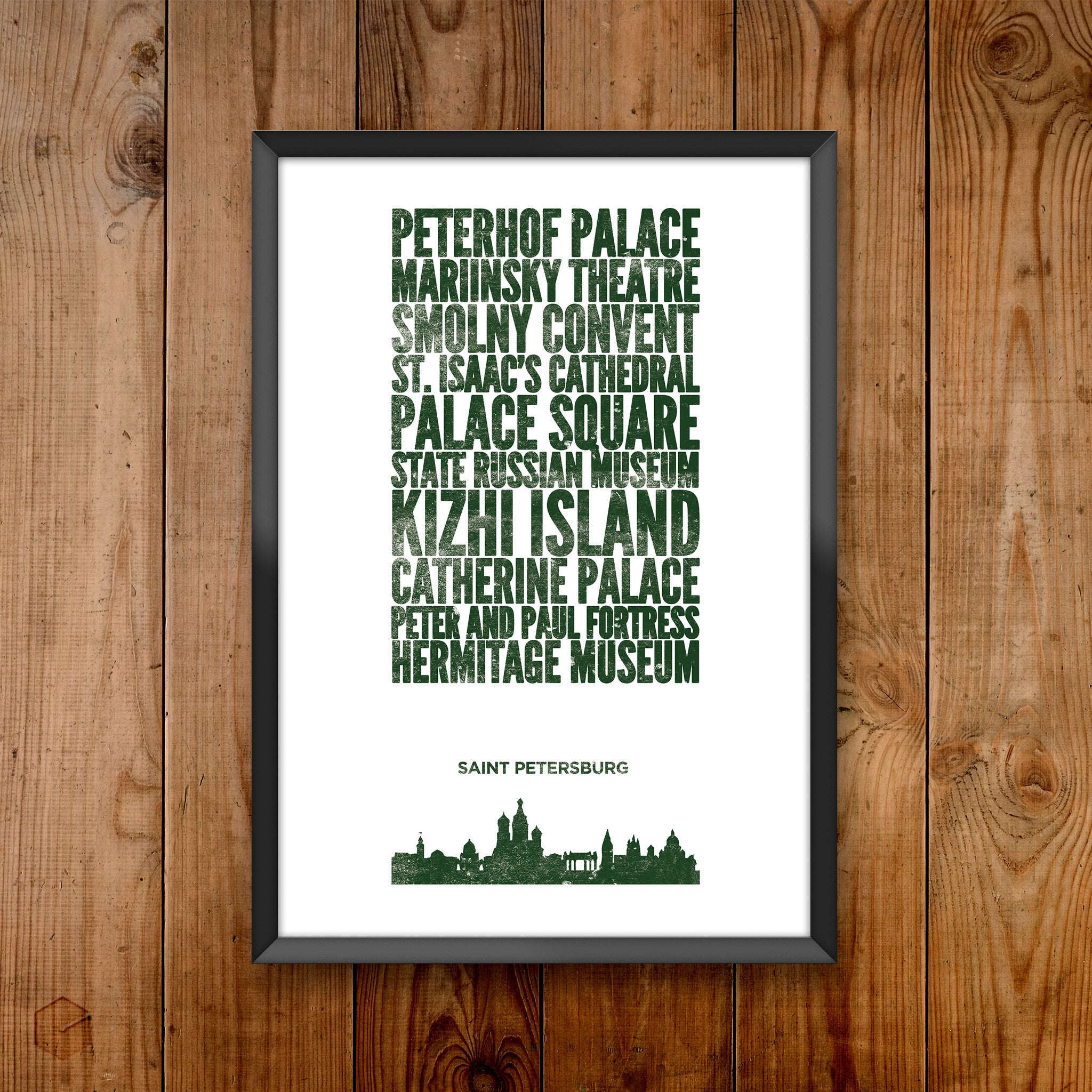 Saint Petersburg City Print