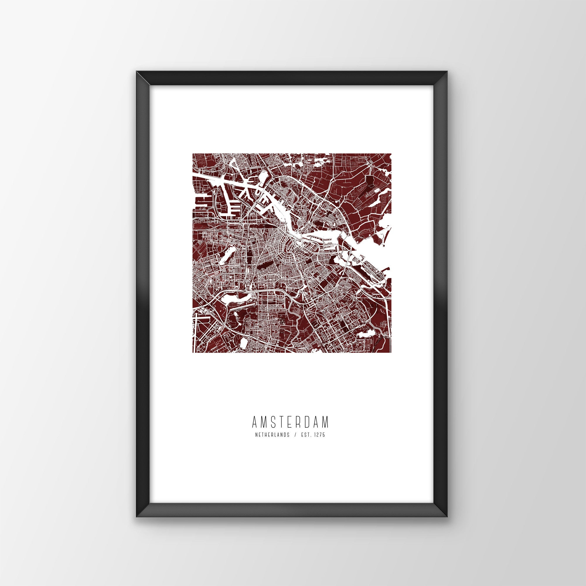 Amsterdam City Map Print