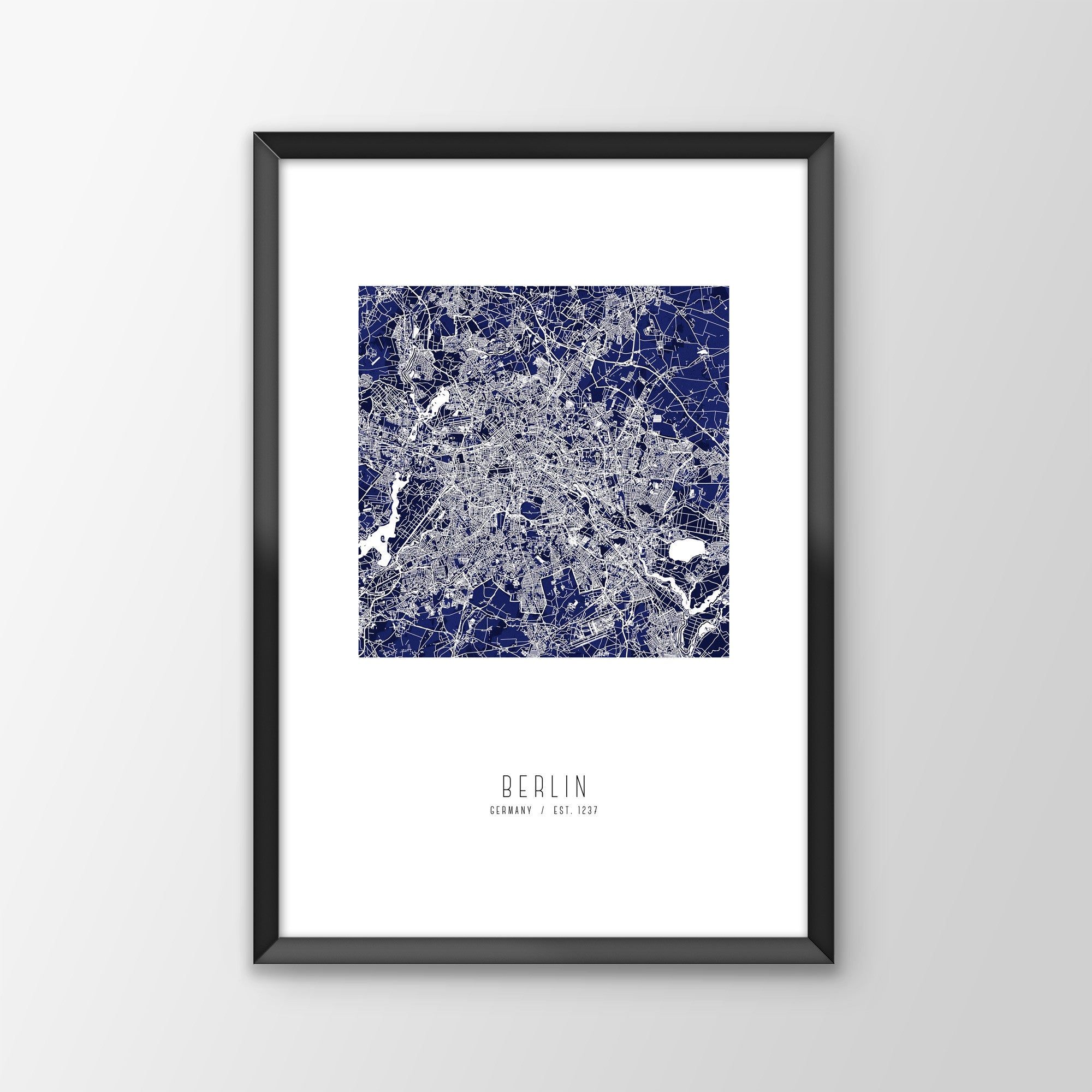 Berlin City Map Print